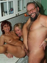 Hot mature wife Myra Cave invites her neighbor over to share her husband on live webcam